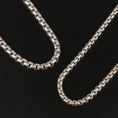 Italian Sterling Box Link Chains