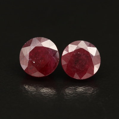 Loose Round Faceted Filled Corundums