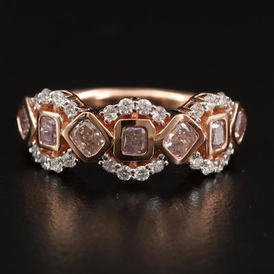 18K Rose Gold 1.17 CTW Diamond Ring
