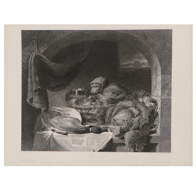 """William Taylor Engraving After George Lance """"Red-Cap,"""" 1851"""