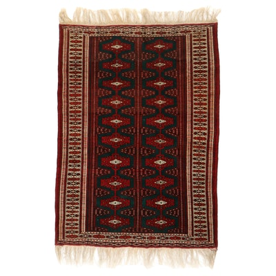 4'6 x 7'2 Hand-Knotted Persian Turkmen Area Rug