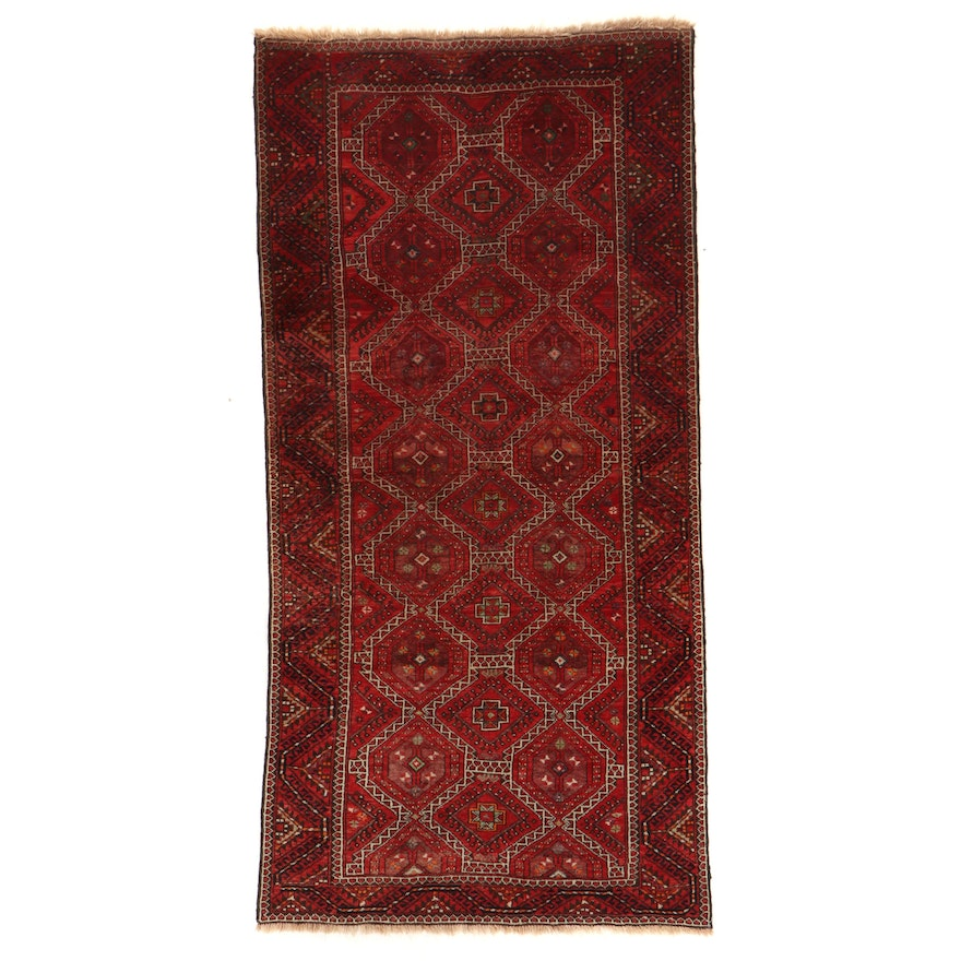 5' x 10'3 Hand-Knotted Pakistani Baluch Area Rug