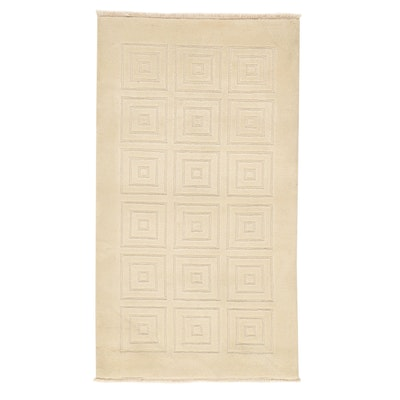 3' x 5'6 Hand-Knotted Indian Modern Style Rug, 2010s