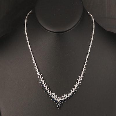 EFFY 14K Sapphire and 1.90 CTW Diamond Necklace