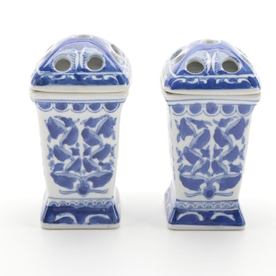 Chinese Blue and White Ceramic Flower Frogs