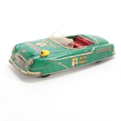 """Marx Dick Tracy Tin Lithograph Battery Operated """"Squad Car"""" Toy, 1950s"""