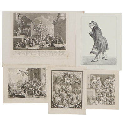 Figurative Engravings Including by William Hogarth, Lithograph and More