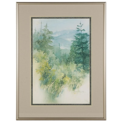 Forest Vista Giclée, Circa 2000