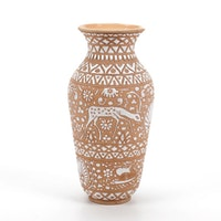 Llaros-Rhodge Handmade Greek Ceramic Vase, 2018