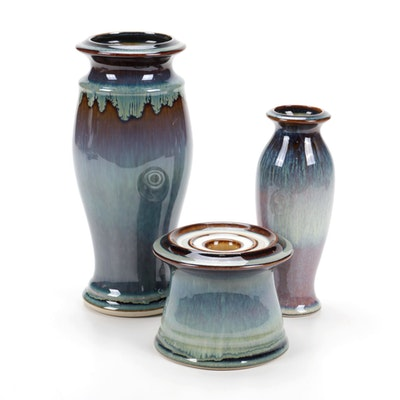 Bill Campbell Hand-Thrown Ceramic Vases