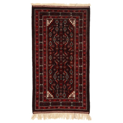 3'3 x 6'6 Hand-Knotted Persian Baluch Area Rug