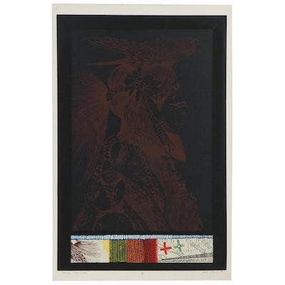 "Don Crouch Serigraph ""Hawk Dancer,"" Circa 1980"