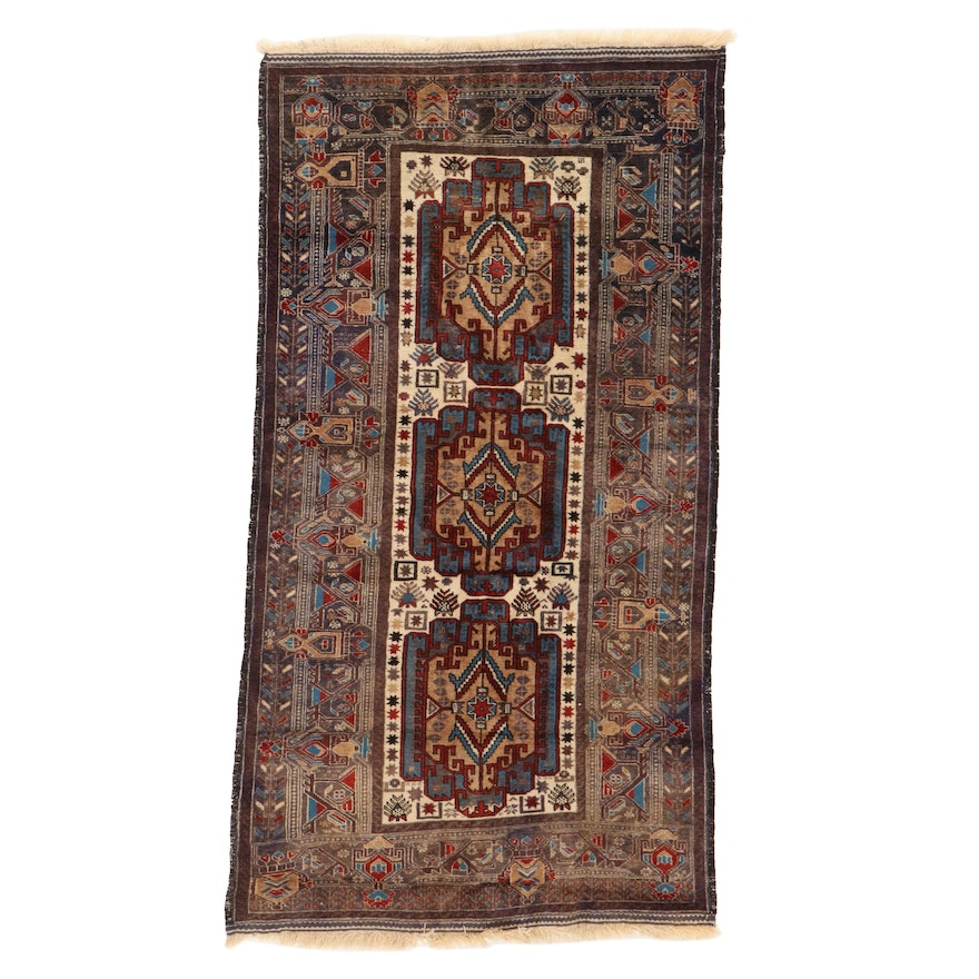3'9 x 6'9 Hand-Knotted Persian Afshar Area Rug