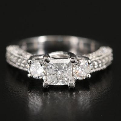 14K 1.44 CTW Diamond Ring with Trellis Setting