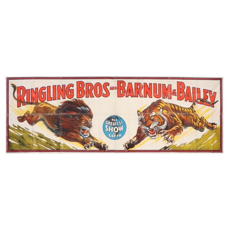 Monumental Ringling Bros and Barnum & Bailey Lithograph Circus Poster