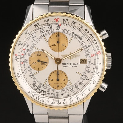 Breitling Old Navitimer I 18K Gold and Stainless Steel Automatic Wristwatch