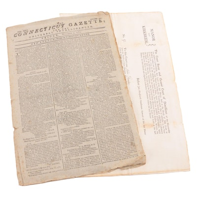 """""""The Connecticut Gazette"""" and Land Grant, 18th Century"""