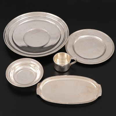 International Silver Baby Cup and Other Sterling Silver Tableware