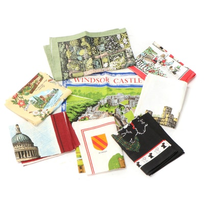 Windsor Castle, Harrods Knightsbridge and Other Linen and Cotton Tea Towels