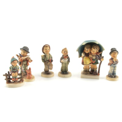 """Goebel """"Stormy Weather"""" and Other Porcelain Hummel Figurines"""
