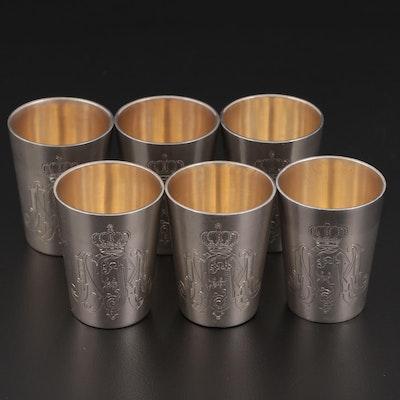 German 800 Silver Shot Glasses