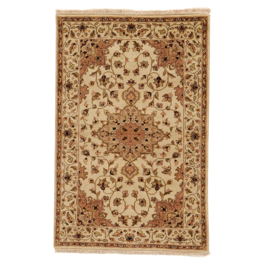 3'11 x 6' Hand-Knotted Indo-Persian Tabriz Rug, 2010s