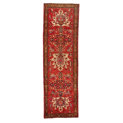 3'5 x 10'10 Hand-Knotted Persian Tabriz Long Rug, 1960s