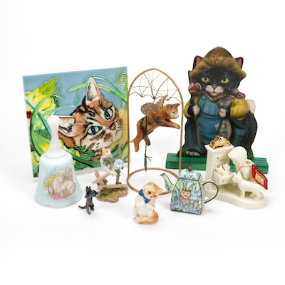 Cats of Character, En Vogue Art Tile and Other Feline Ornaments