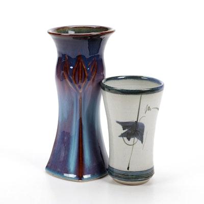 Two Glazed Ceramic Vases, Contemporary