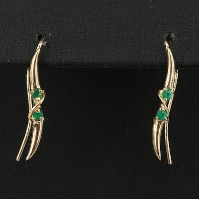 14K Chalcedony Earrings