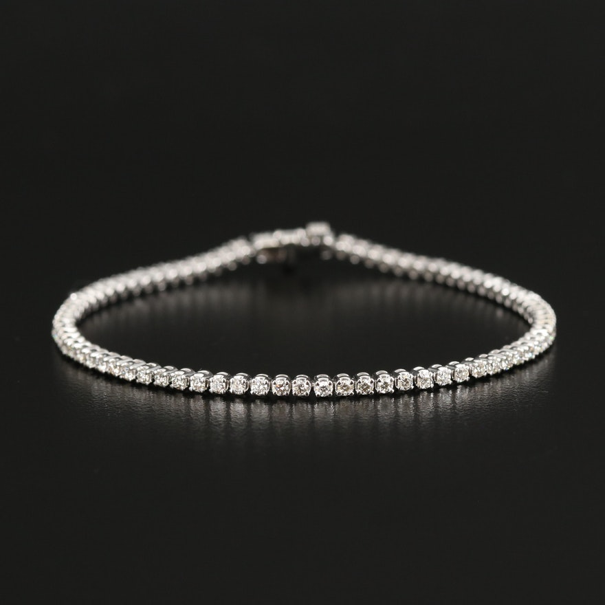 14K 2.10 CTW Diamond Tennis Bracelet