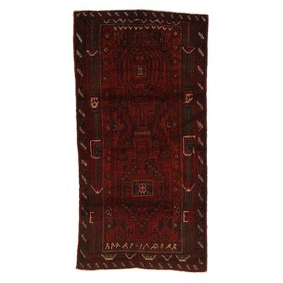 3'5 x 6'7 Hand-Knotted Persian Birjand Khorasan Rug, 1970s