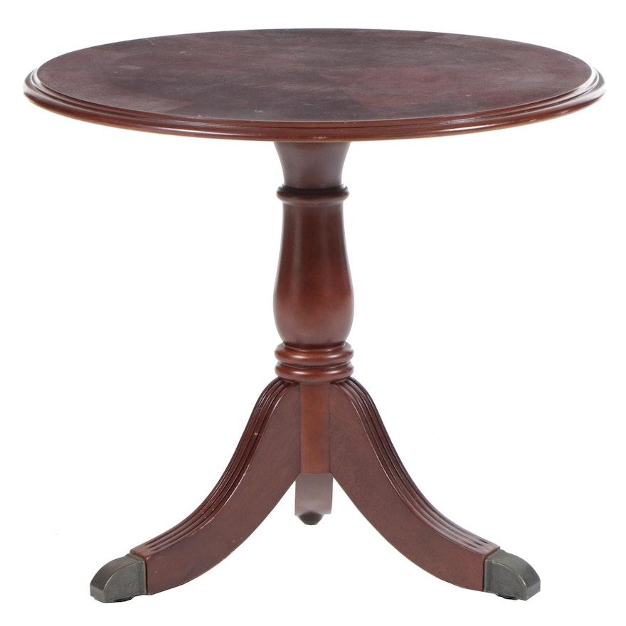 Regency Style Mahogany Tripod Table, Late 20th Century