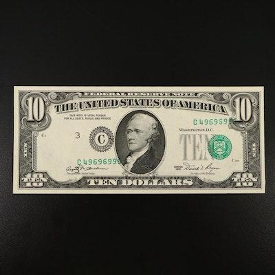 $10 Federal Reserve Error Note, 1981