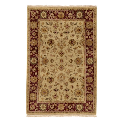 3'11 x 6'1 Hand-Knotted Indo-Persian Tabriz Rug, 2010s