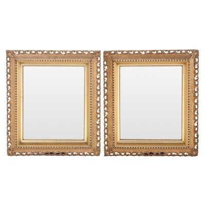 Pair of Victorian Giltwood and Composition Mirrors, Late 19th Century