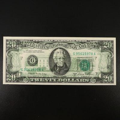$20 Overprint Error Federal Reserve Note, 1981