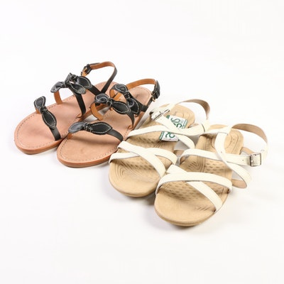 Land's End Terrain Sandals and Bow Slide Sandals