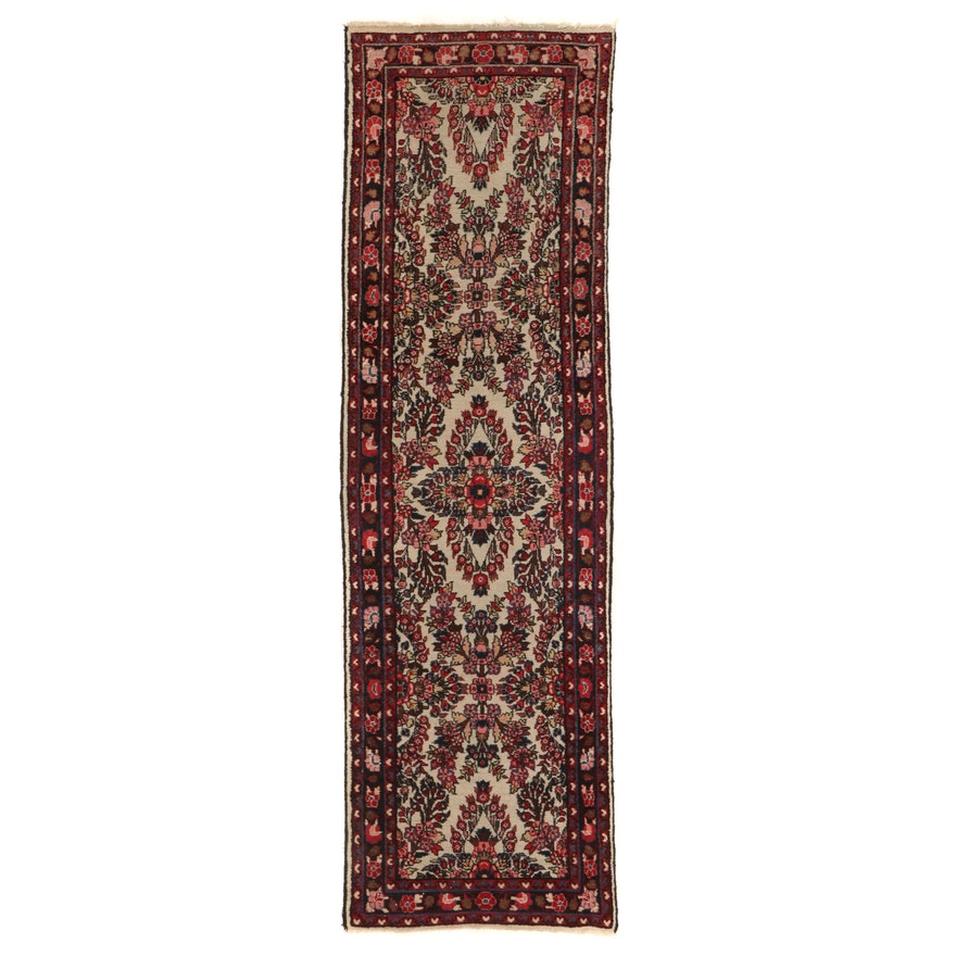 2'8 x 9'1 Hand-Knotted Persian Darjazin Carpet Runner