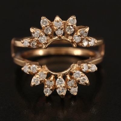 Vintage 14K Diamond Ring Enhancer