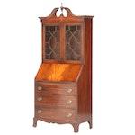 Maddox Federal Style Mahogany Secretary Bookcase, Early to Mid 20th Century