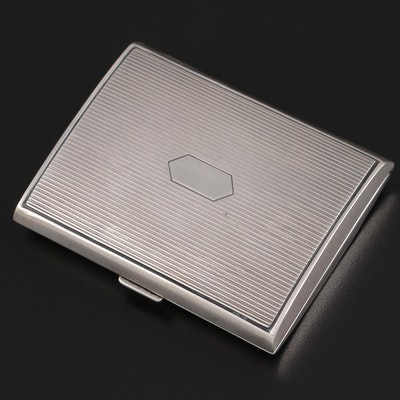 WIlliam B. Kerr & Co. Engraved Sterling Silver Cigarette Case, Early 20th C.
