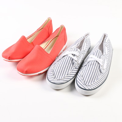 Land's End Heritage Boat Moccasin and Gatas Slip On Flats
