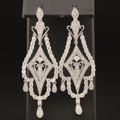 14K 4.88 CTW Diamond Earrings