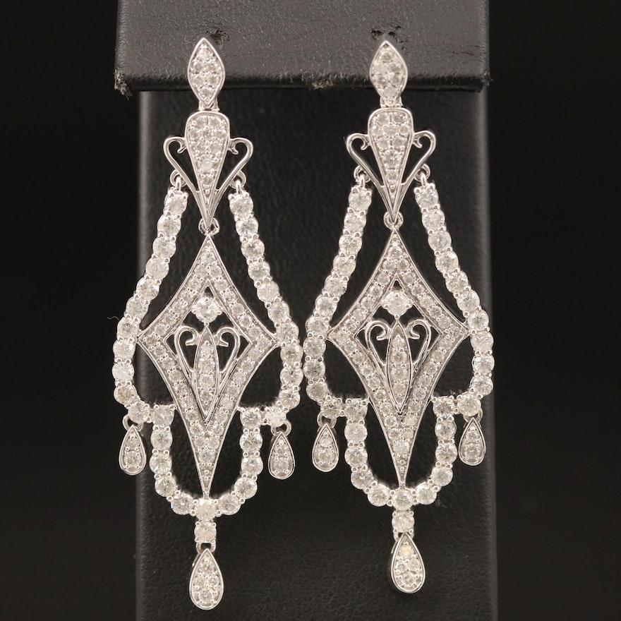 14K 4.88 CTW Diamond Chandelier Earrings
