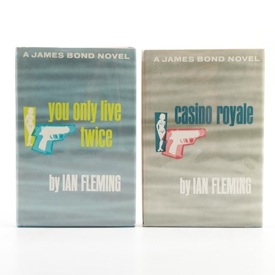 """""""Casino Royale"""" and """"You Only Live Twice"""" Book Club Editions by Ian Fleming"""