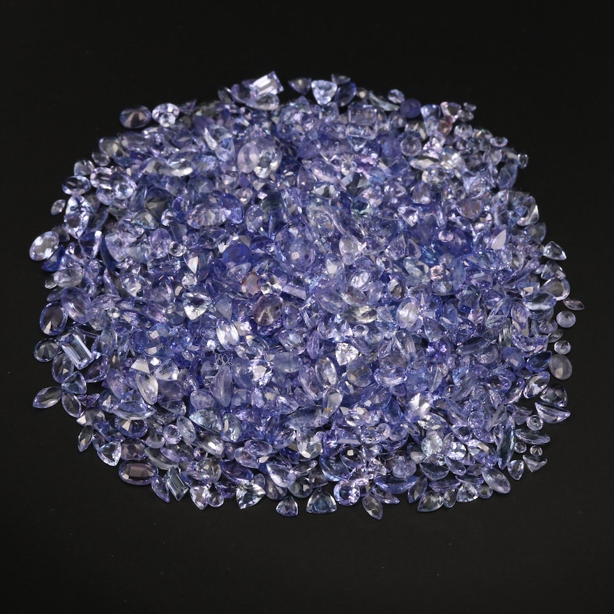 Loose 180.19 CTW Mixed Faceted Tanzanite