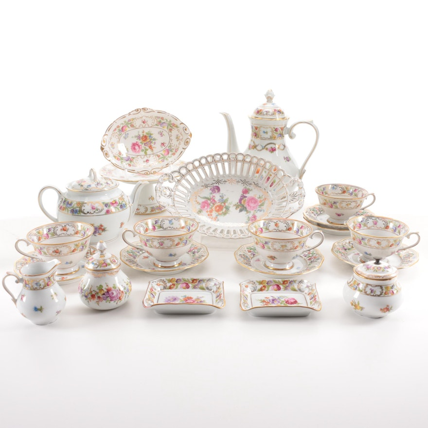 "Schumann Bavaria ""Dresden Flowers"" Porcelain Tea Set and More"