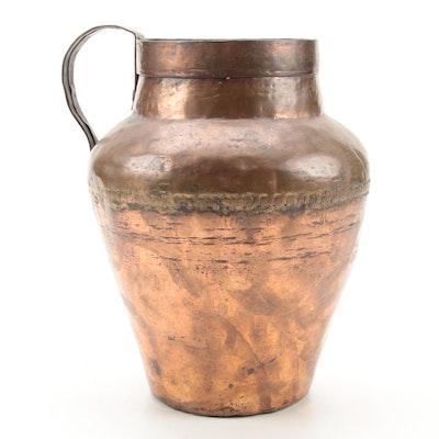 Hammered Copper Jug, Antique