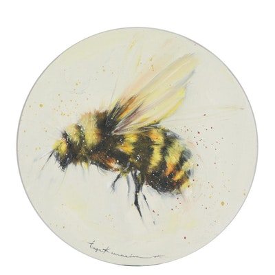 Inga Khanarina Oil Painting of a Bumblebee, 2021